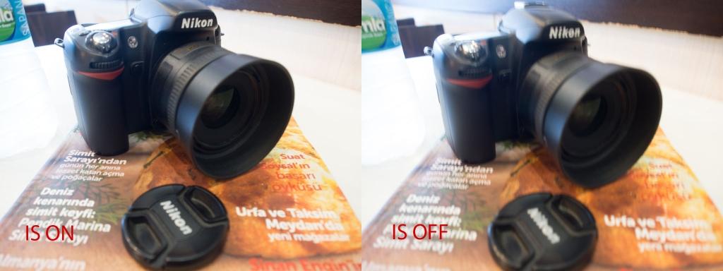 Her iki fotoğraf da f/3.5 diyafram, 1/6 enstantane ve 400ISO da çekilmiştir.